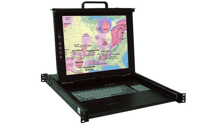 KSR117-8P Industrial 17″ Display Monitor w/8 port KVM
