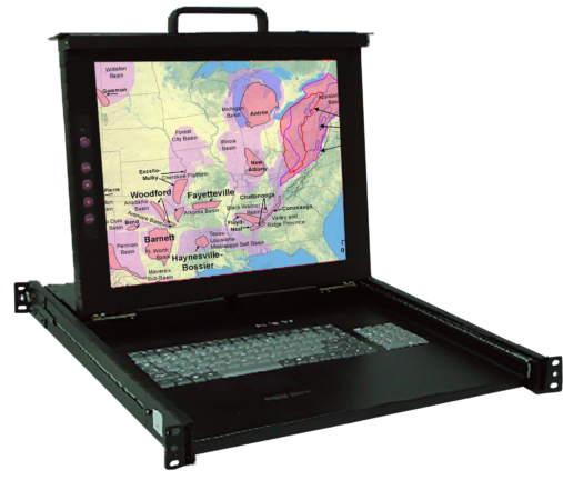KSR117 Industrial 17″ Display Monitor w/1 port KVM