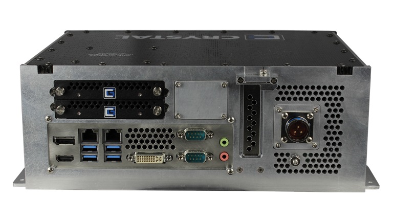 RE1312 Rugged Embedded Computer by Crystal Group - Back View