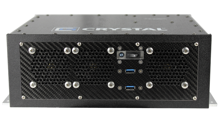 RE1312 Rugged Embedded Computer by Crystal Group - Front View