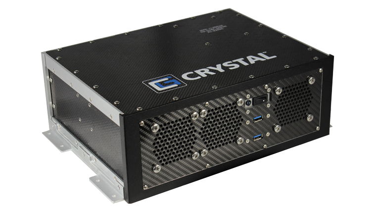 RE1312 Rugged Embedded Computer by Crystal Group - Front Left View
