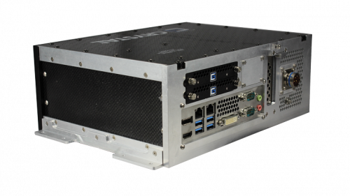 RE1312 Rugged Embedded Computer by Crystal Group - Back Left View