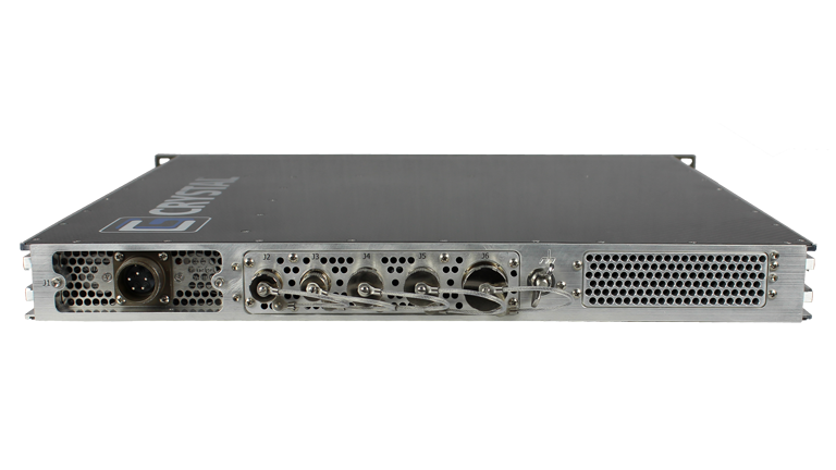 RS112PS18M Rugged 1U Carbon Fiber Server, rear view