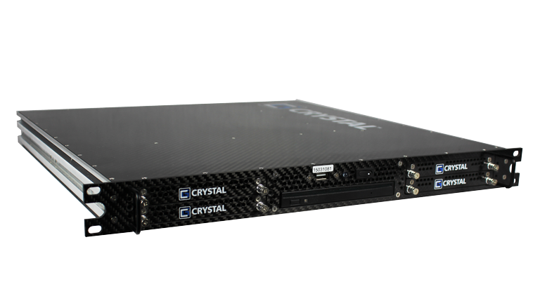 RS112PS18M Rugged 1U Carbon Fiber Server, front left view