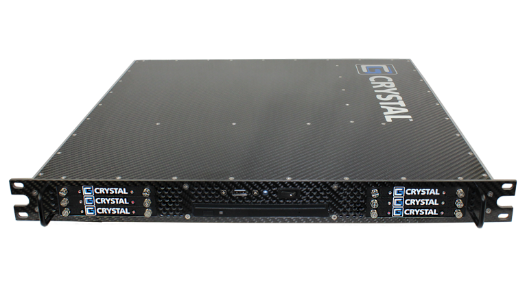 RS114PS18 1U Rugged Carbon Fiber Server, Front View