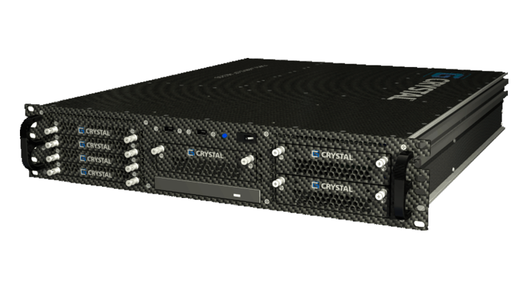 RS265P Rugged 2U Carbon Fiber Server, front right view