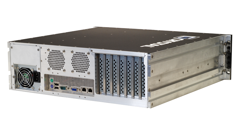 Back Right view of the RS373S17 Rugged 3U Server by Crystal Group