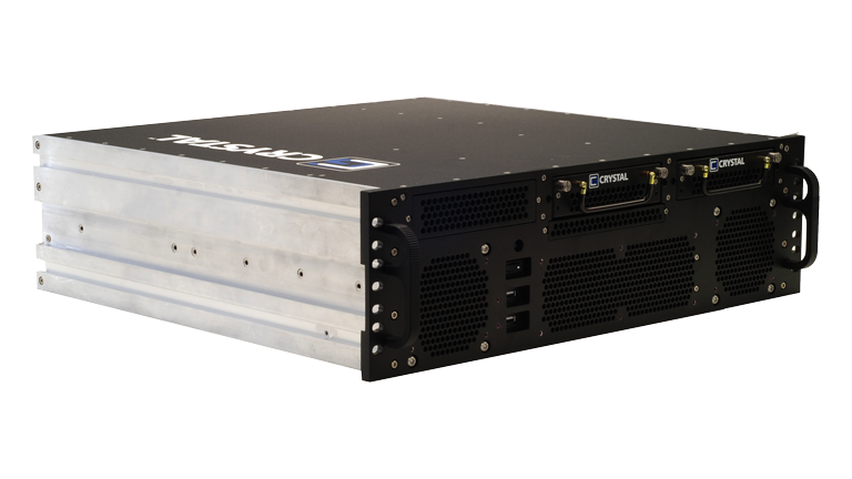 Front Right view of the RS373S17 Rugged 3U Server by Crystal Group