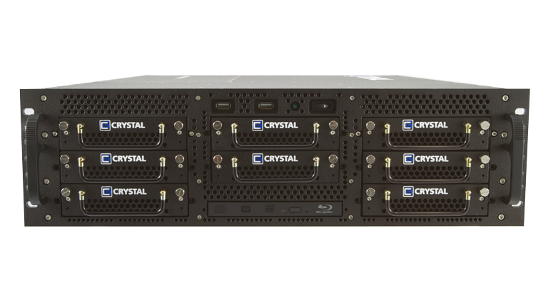 RS378L24 Rugged Rackmount 3U Server by Crystal Group - Front View
