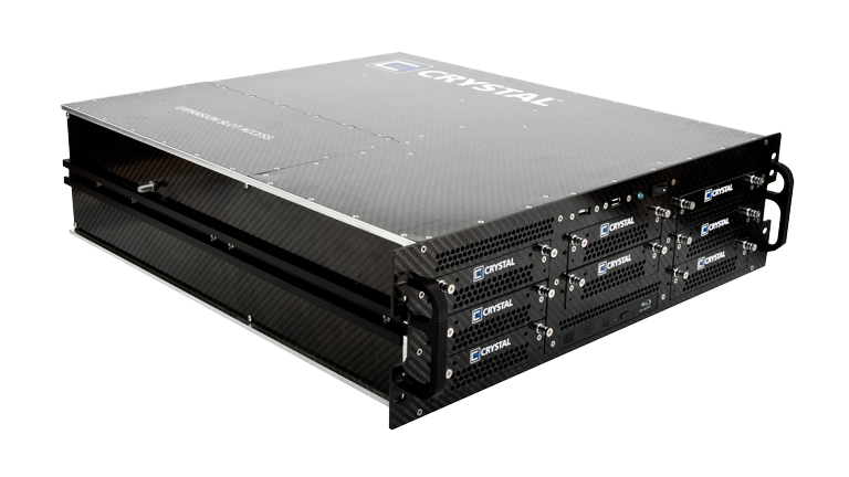RS378P Rugged 3U Carbon Fiber Server, front left view