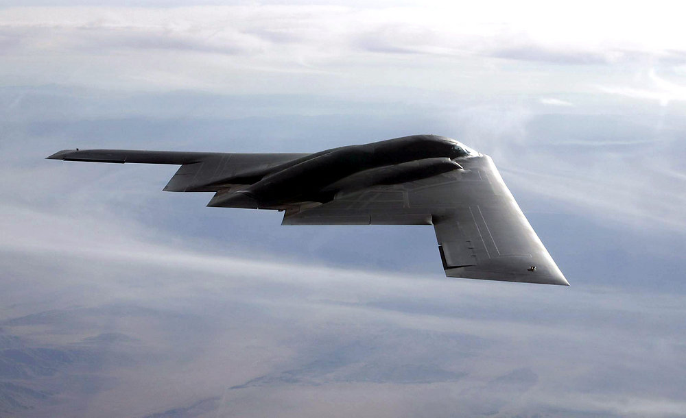 The B-2 flies over the Utah Testing and Training Range at Hill Air Force Base, Utah,