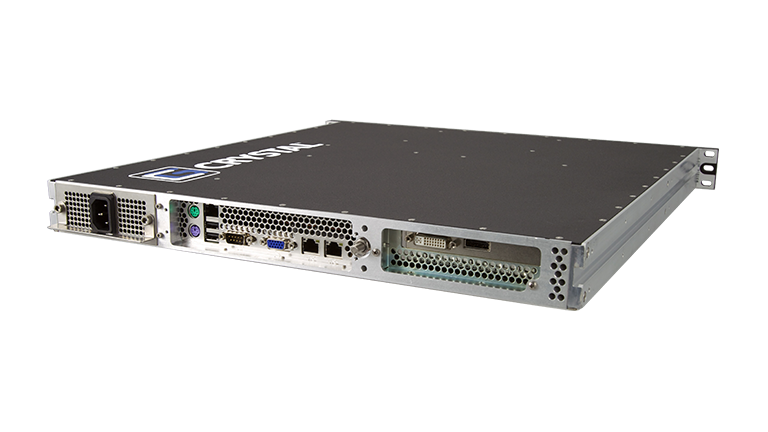 Back Right View of RS112 Rugged 1U Server by Crystal Group