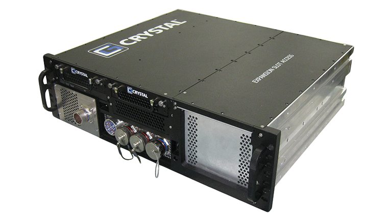 RS363S15FM Rugged 3U Server by Crystal Group- front left view
