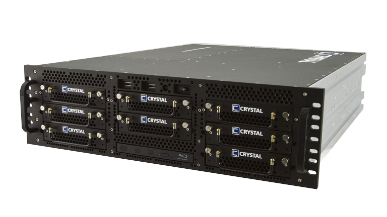 RS378L24 Rugged 3U Server by Crystal Group - Front Right View