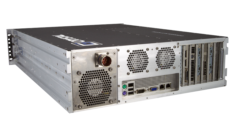 RS378L24 Rugged 3U Server by Crystal Group - Back Left View