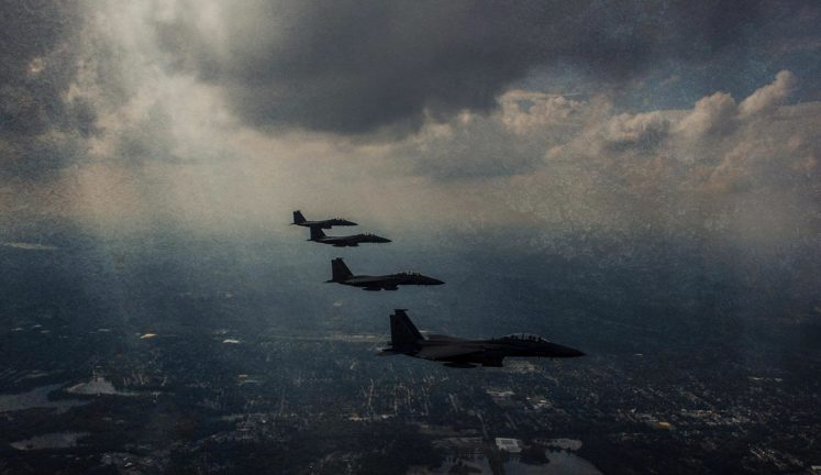 airforce in sky