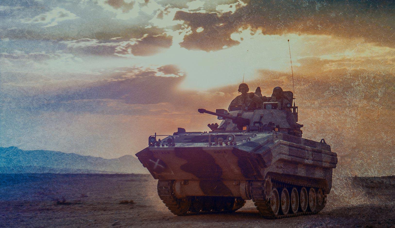 tank on battlefield