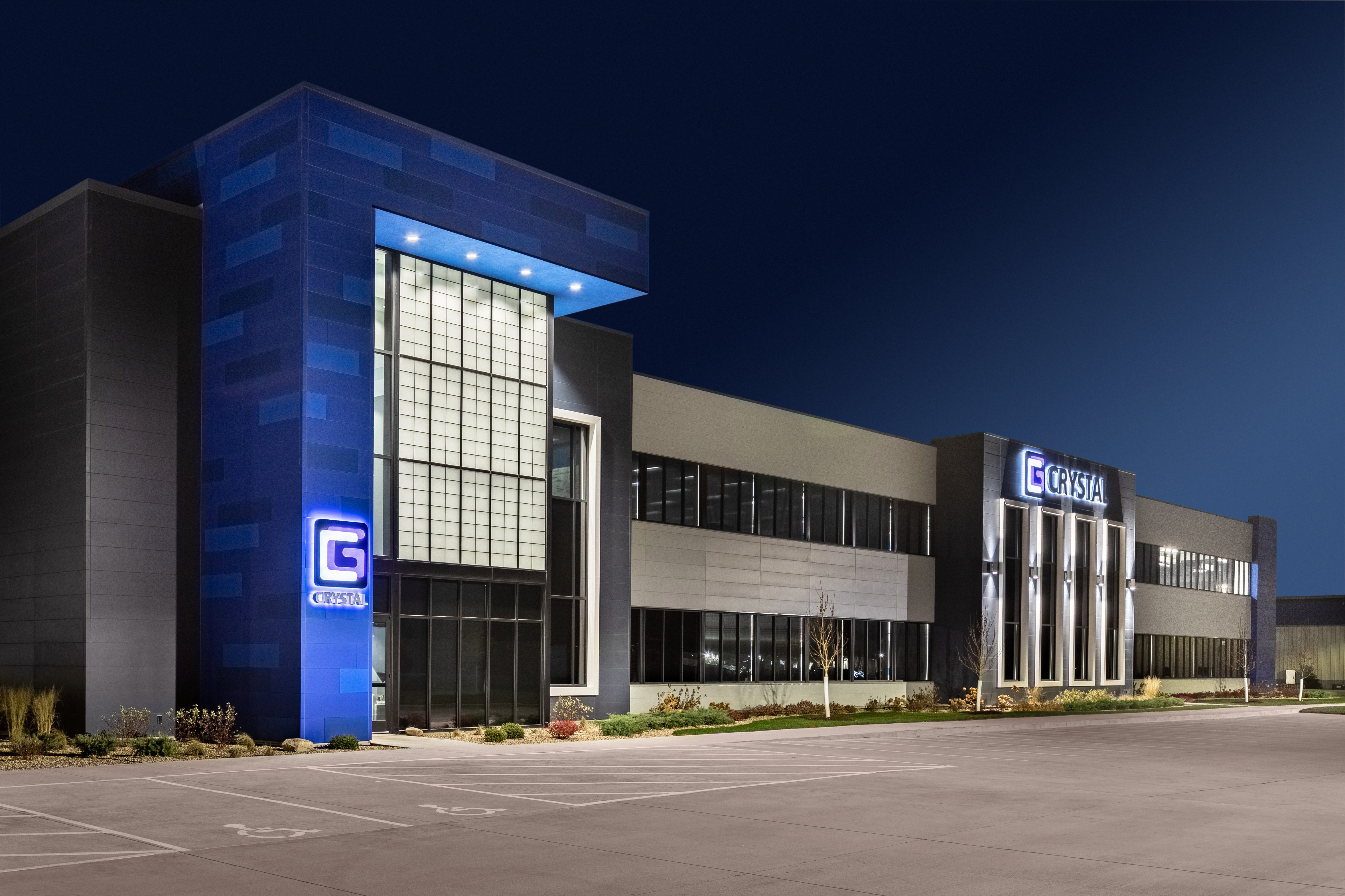 Crystal Group Ext Nighttime