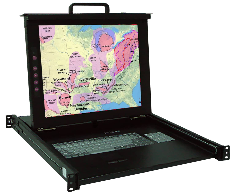 KSR117 Industrial 17″ Display Monitor w/1 port KVM