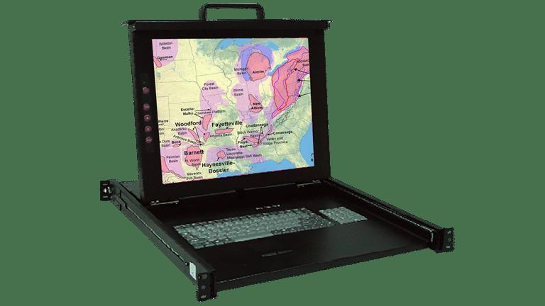 KSR117-8P Industrial 17″ Display Monitor w/8 port KVM