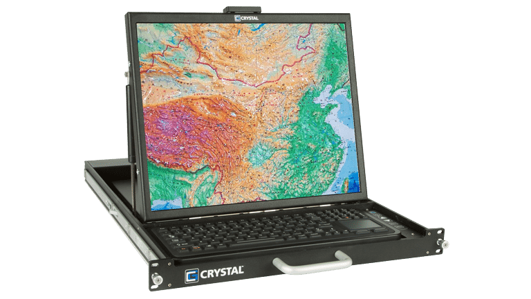 "RD1119 Rugged 1U 19"" Display / Monitor by Crystal Group"