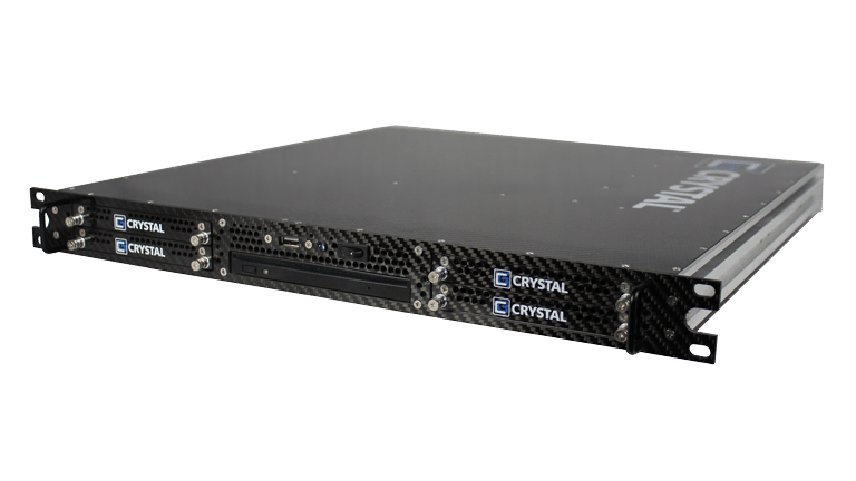 RS112PS18M Rugged 1U Carbon Fiber Server, front right view