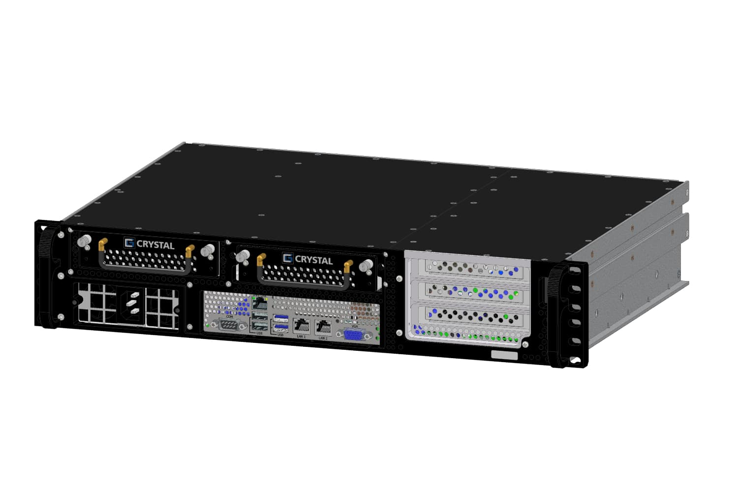 RS232SF rugged server, front-right