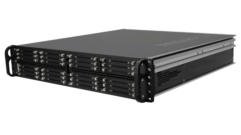 RS2616PS18 Rugged 2U carbon fiber Server, Front Right View