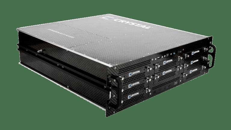 RS378P Rugged 3U Carbon Fiber Server, front left view