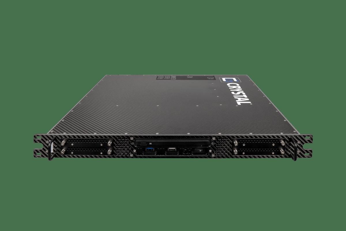 RS114PS18 Rugged 1U Carbon Fiber Server, front